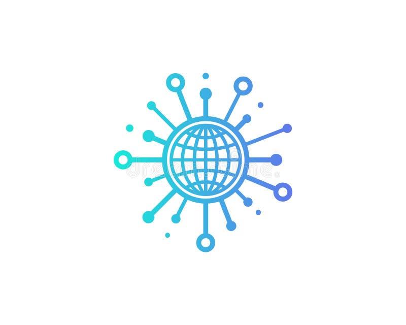Globalny Międzynarodowy części ikony loga projekta element ilustracji