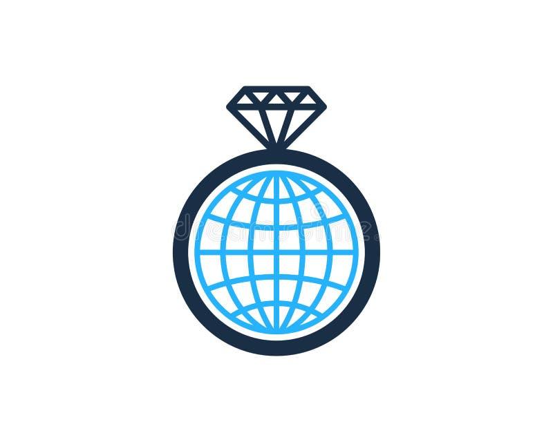 Globalny Międzynarodowy Diamentowy ikona loga projekta element ilustracja wektor