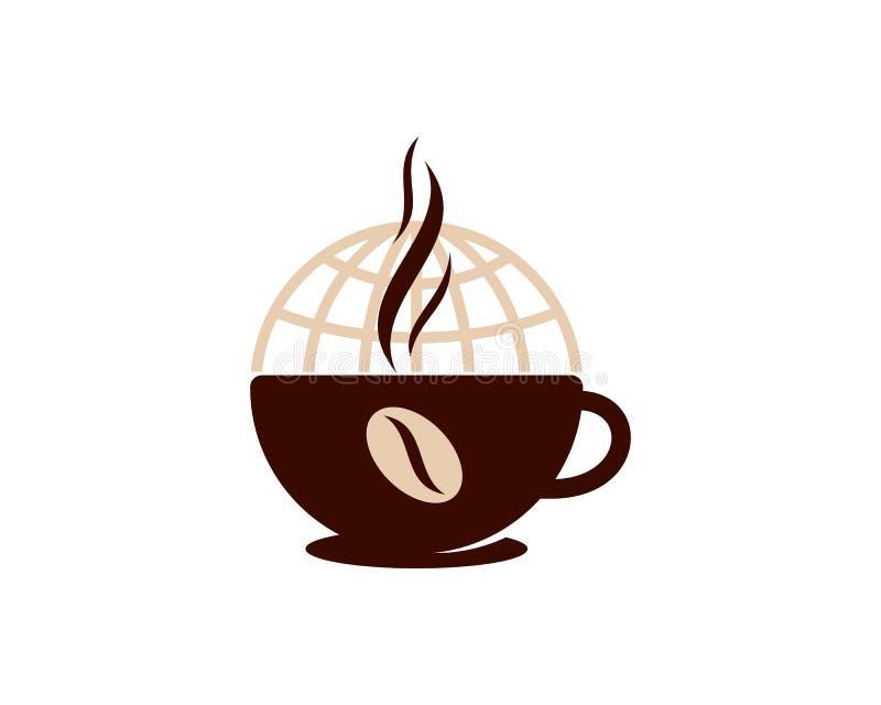 Globalny Międzynarodowy Kawowy ikona loga projekta element royalty ilustracja