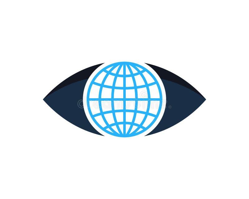 Globalny Międzynarodowy oko ikony loga projekta element royalty ilustracja
