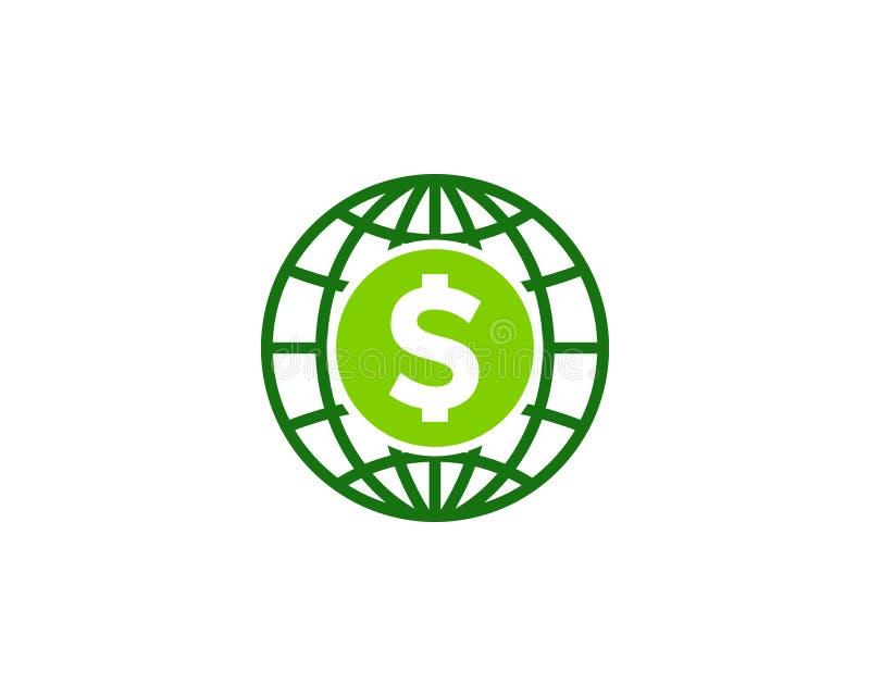 Globalny Międzynarodowy pieniądze ikony loga projekta element royalty ilustracja