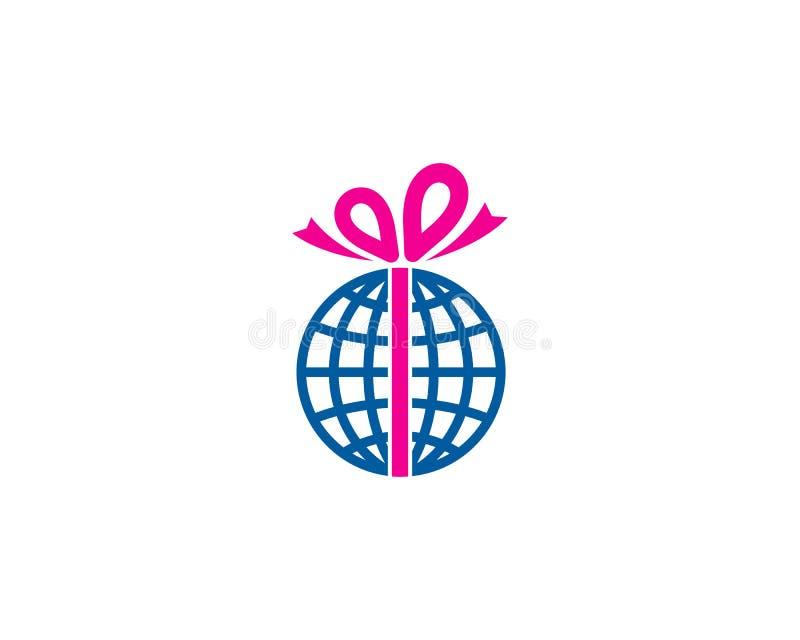 Globalny Międzynarodowy prezent ikony loga projekta element royalty ilustracja