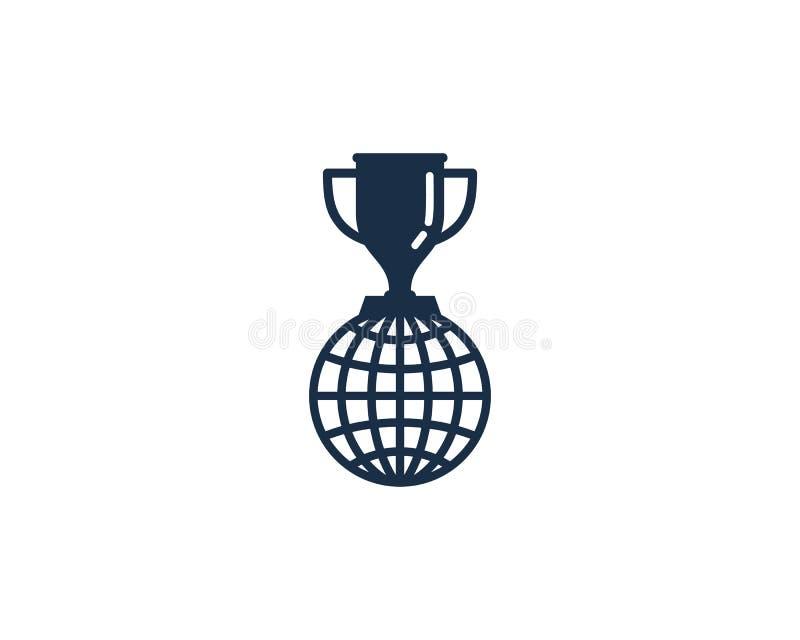 Globalny Międzynarodowy trofeum ikony loga projekta element royalty ilustracja