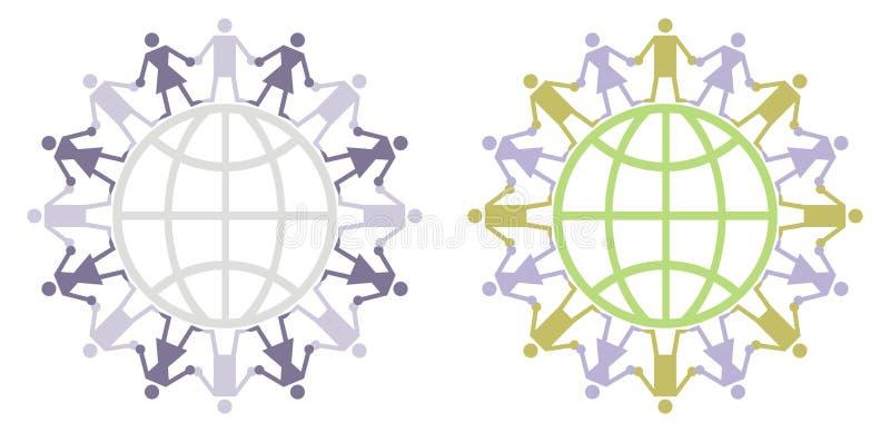 globalny mieszkana logo ilustracja wektor