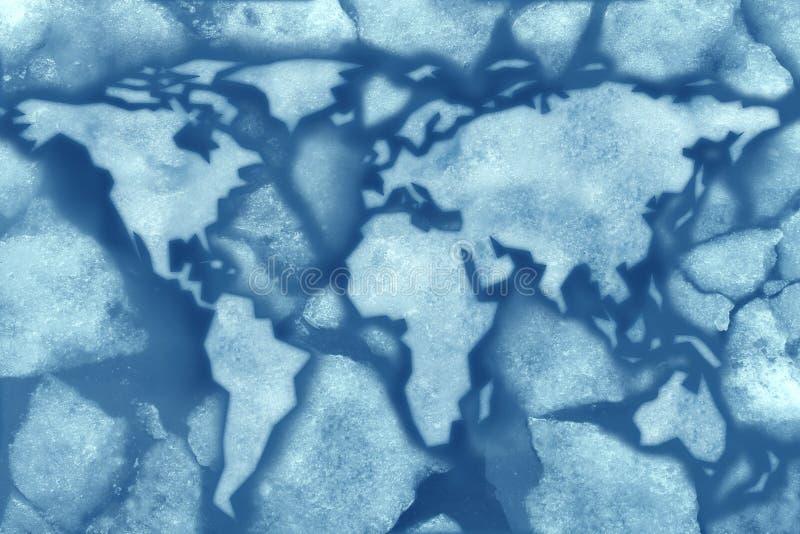 Globalny mróz ilustracji