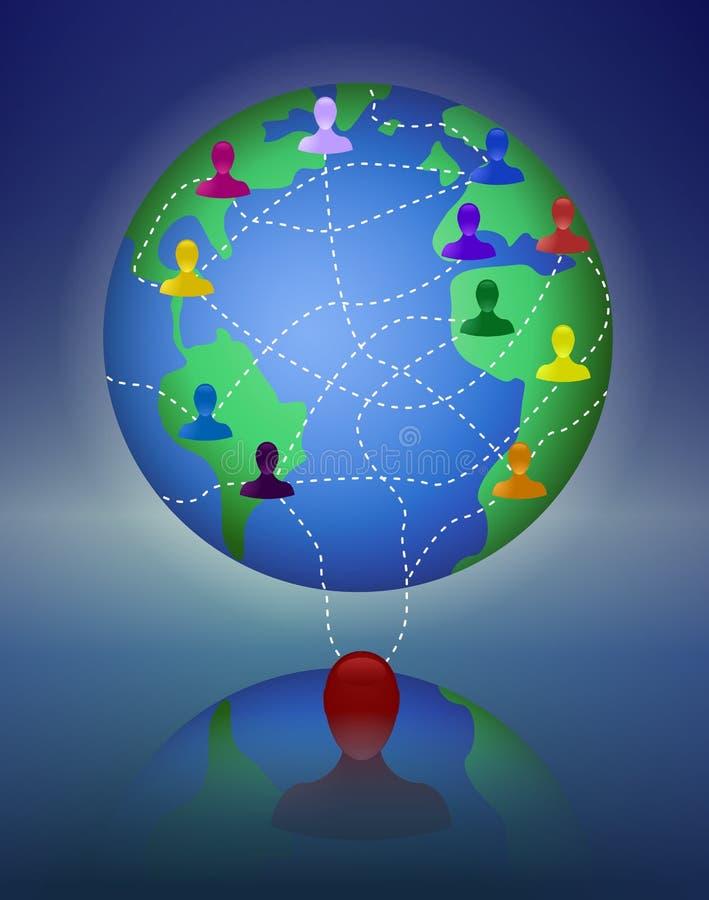 Globalny multilevel sieć marketing ilustracja wektor