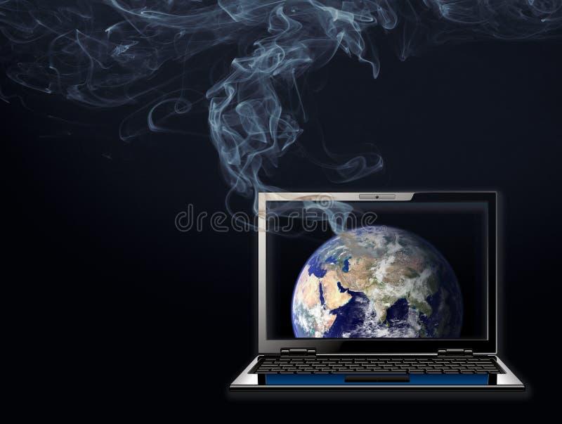Globalny nagrzanie, zmiana klimatu ilustracja wektor