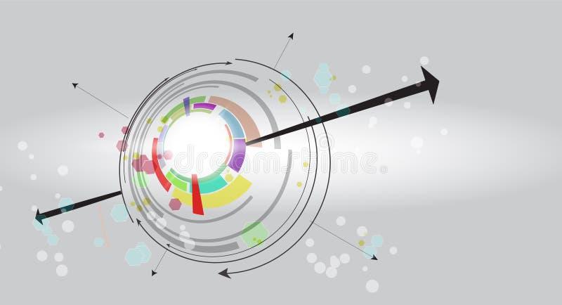 Globalny nieskończoności informatyki pojęcia biznesu tło royalty ilustracja