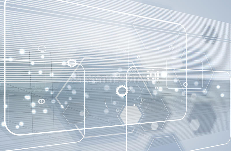 Globalny nieskończoności informatyki pojęcia biznesu tło ilustracji