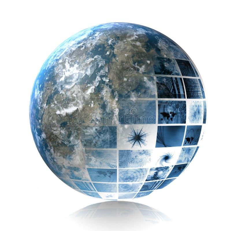 globalny oprogramowanie ilustracja wektor
