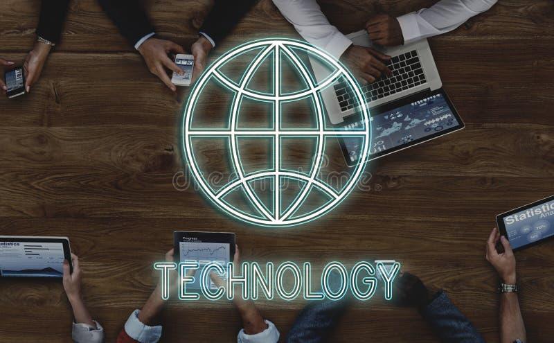 Globalny Podłączeniowy Komunikacyjny networking grafiki pojęcie zdjęcia royalty free