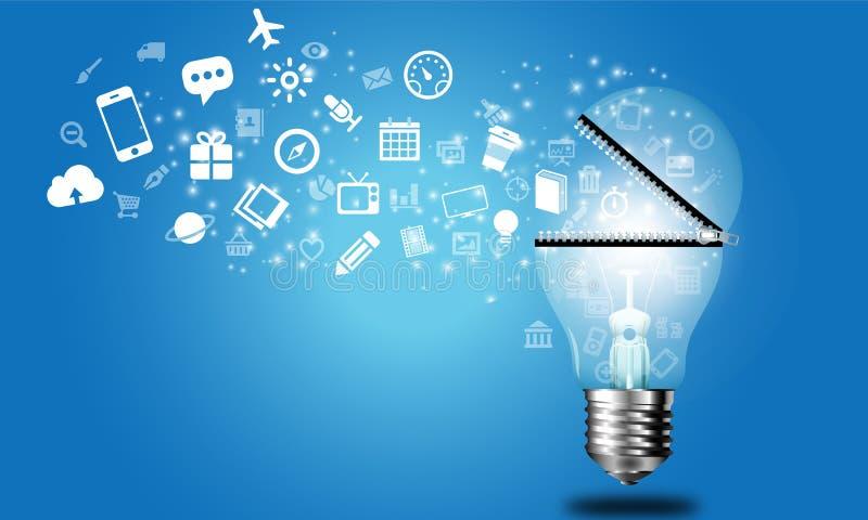 Globalny pomysłu biznes ilustracji