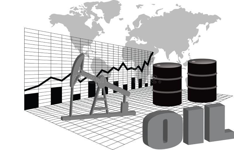 Globalny rynek ropy ilustracji