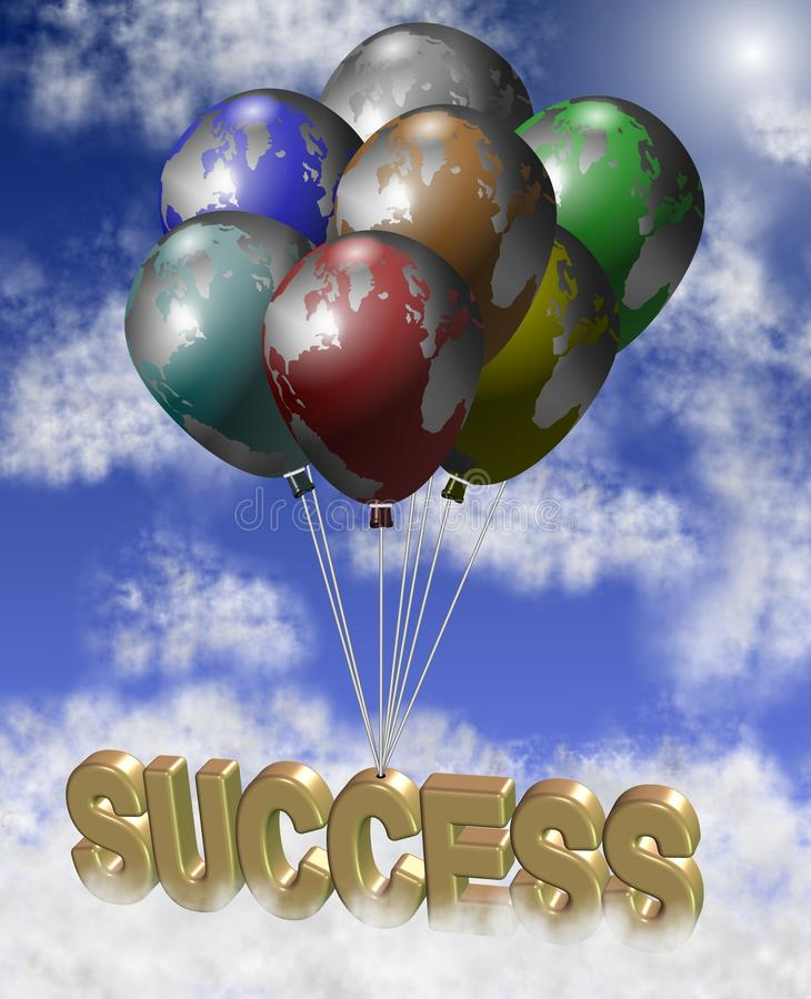 Globalny sukces ilustracja wektor