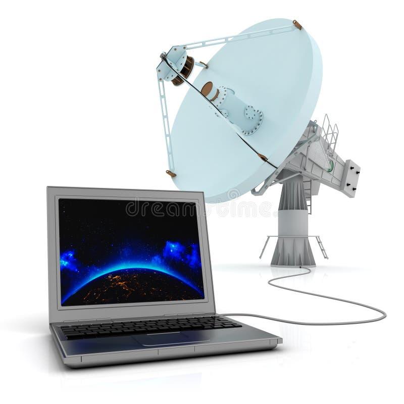 Globalny systemu komunikacyjnego pojęcie ilustracji