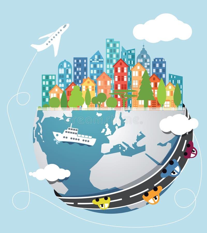 globalny transport ilustracja wektor