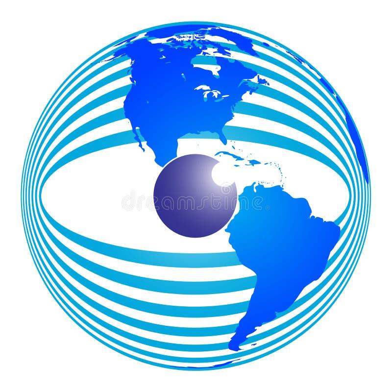 Globalny wzrok ilustracja wektor