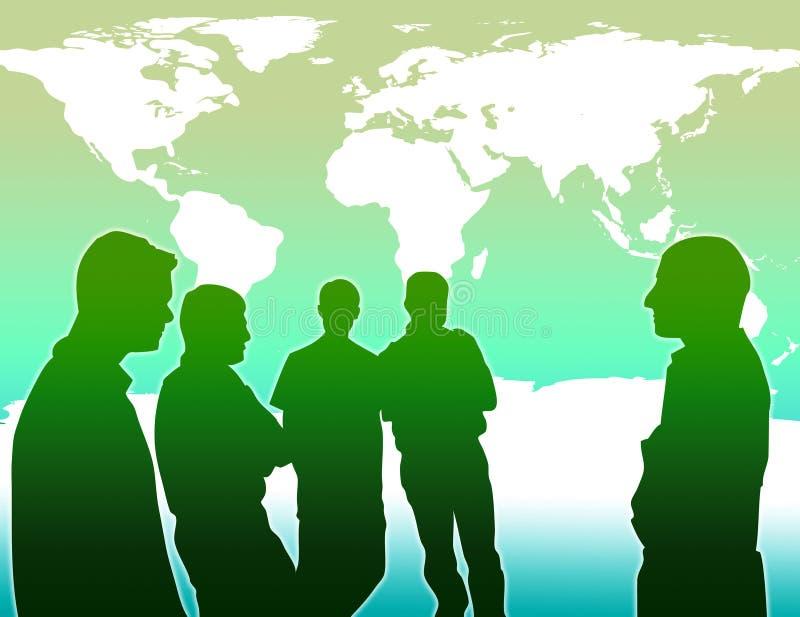 globalny zapobiegać nagrzanie drużynową pracę royalty ilustracja