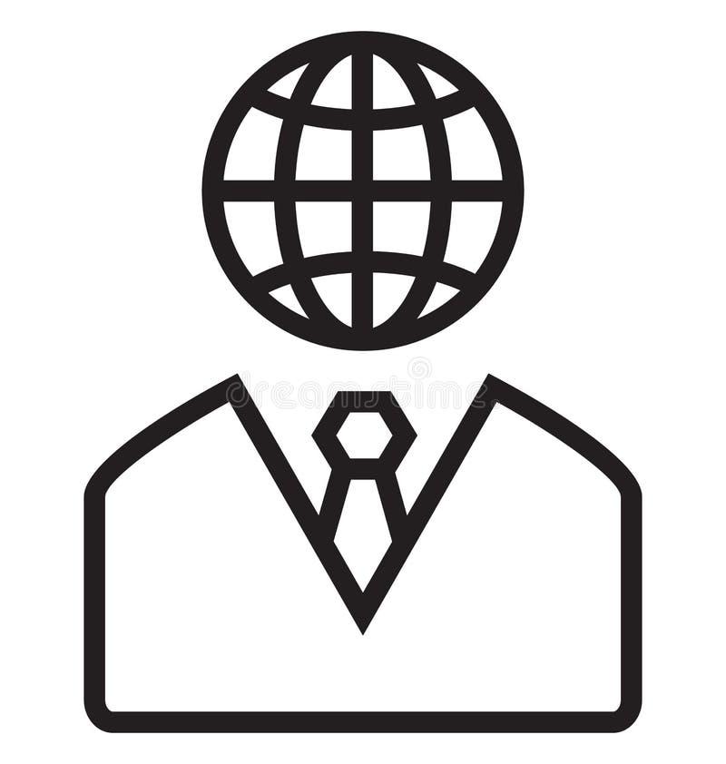 Globalny zarządzanie Odizolowywał Wektorową ikonę Która może łatwo Redaguje lub Modyfikująca ilustracji