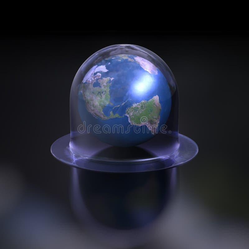 globalt avmaska stock illustrationer