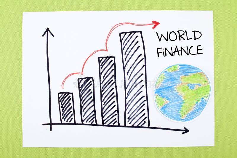 Globalt finansdiagram royaltyfri foto
