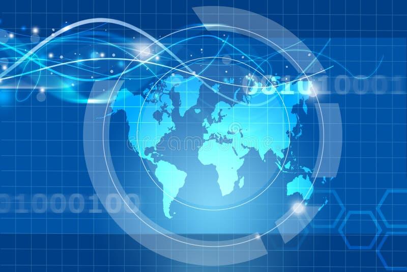 Globalt handelbegrepp stock illustrationer