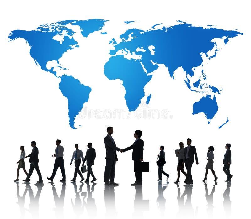 Globalt internationellt begrepp för affärssamarbetssamarbete arkivfoto