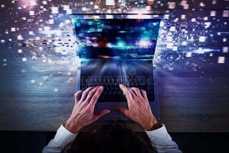 Globalt internetuppkopplingbegrepp för hastighet royaltyfria foton