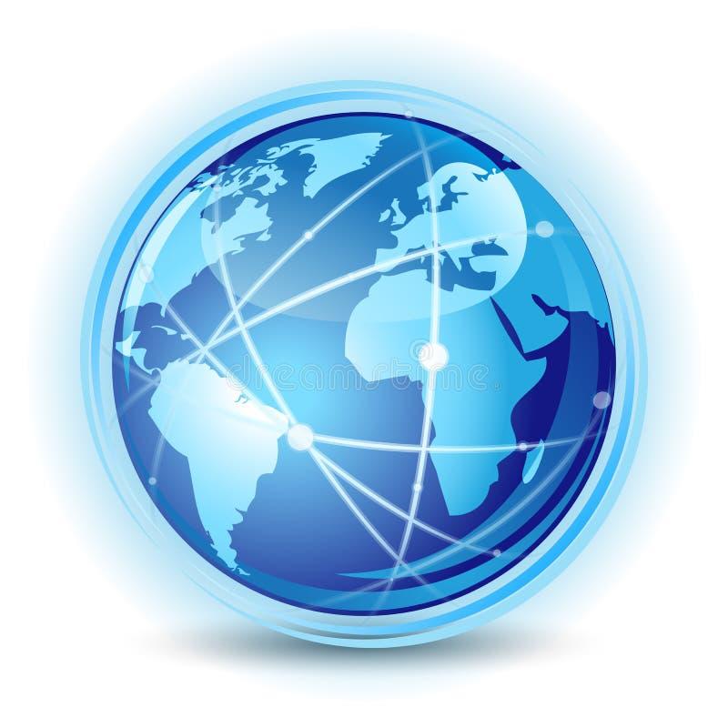globalt kommunikationsbegrepp vektor illustrationer