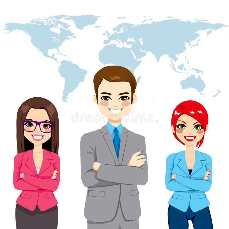 Globalt lag för säkra Businesspeople vektor illustrationer