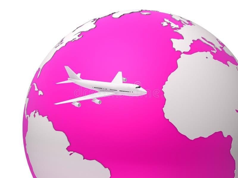 globalt lopp stock illustrationer