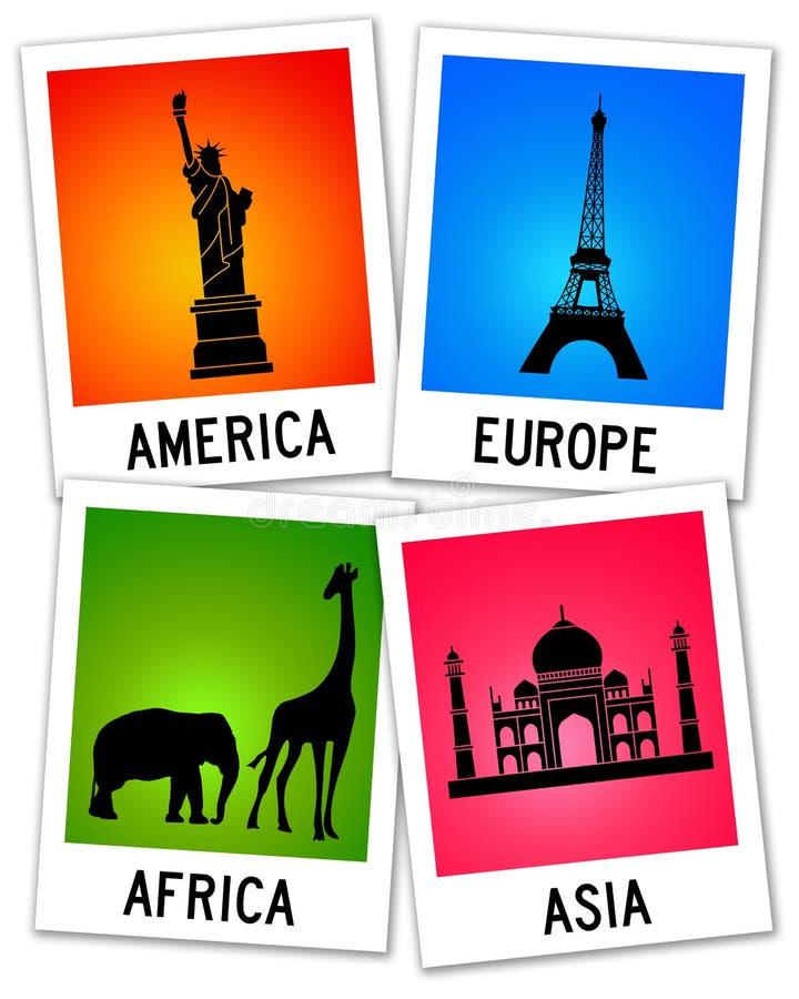 globalt lopp vektor illustrationer