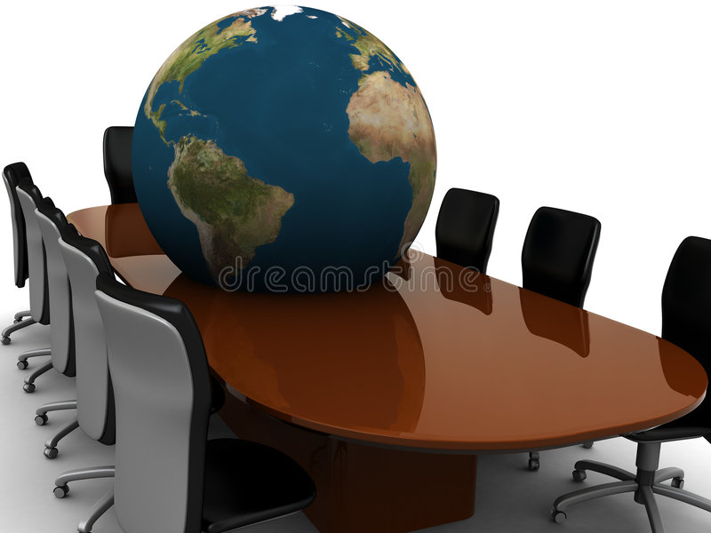 globalt möte royaltyfri illustrationer