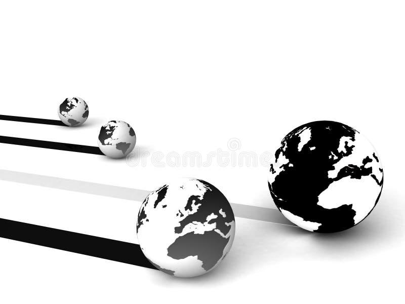globalt marknadsföringsnätverk vektor illustrationer