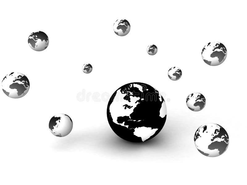 globalt marknadsföringsnätverk stock illustrationer