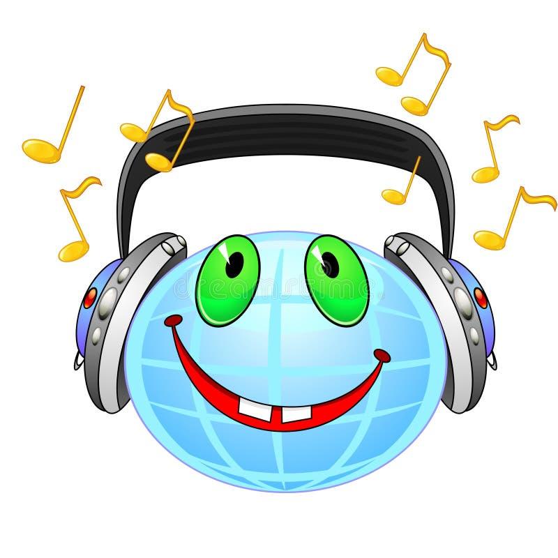 globalt musiksymbol stock illustrationer