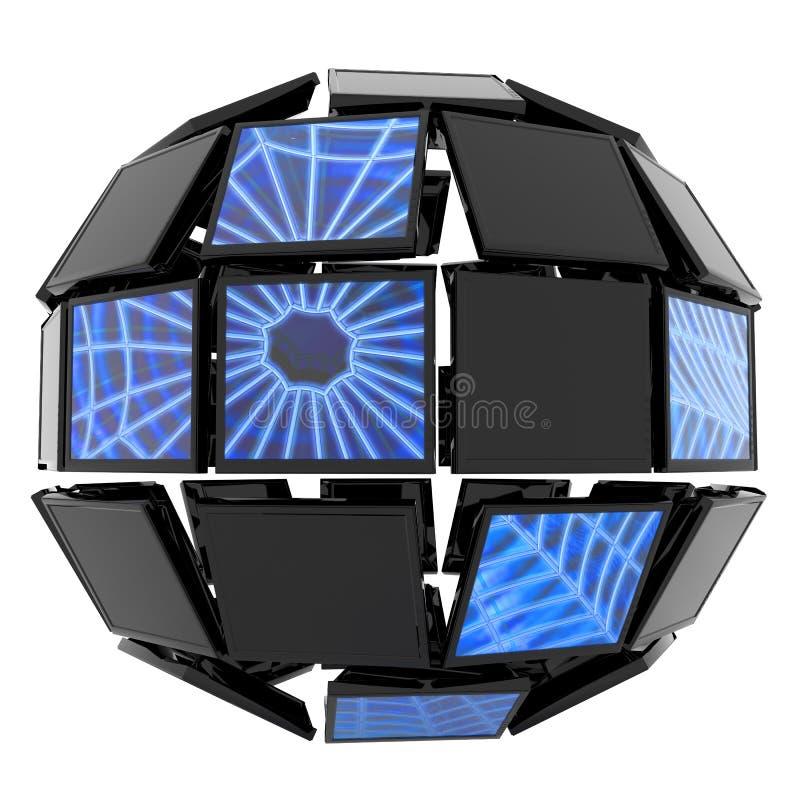 globalt nätverk vektor illustrationer