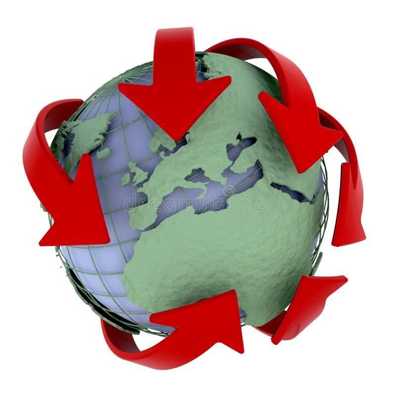 globalt nätverk royaltyfri illustrationer