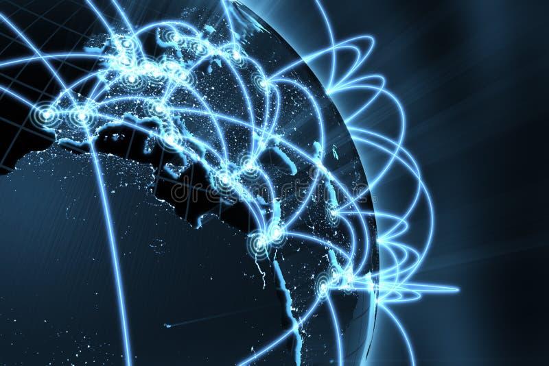 globalt nätverk för begrepp arkivbild