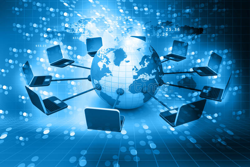 globalt nätverk för dator royaltyfria bilder