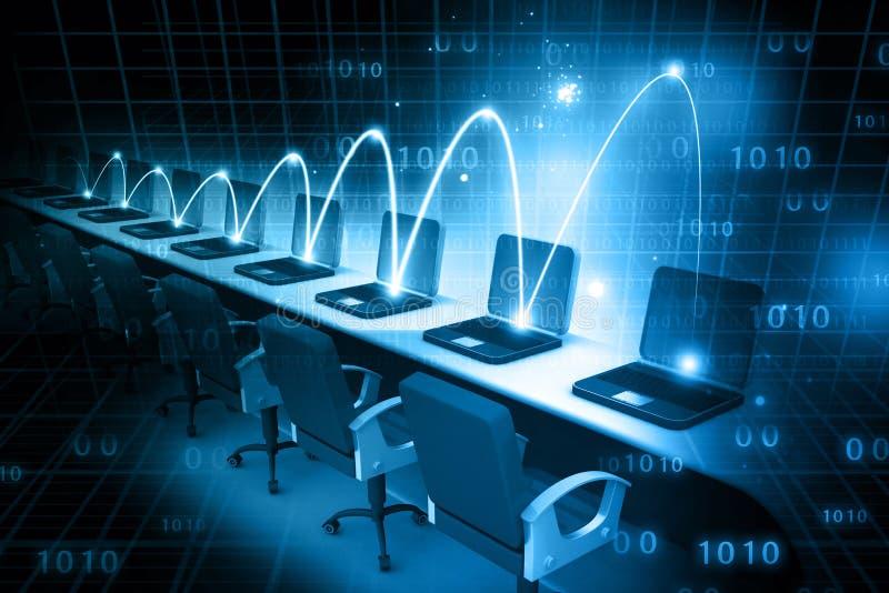 globalt nätverk för dator royaltyfri bild