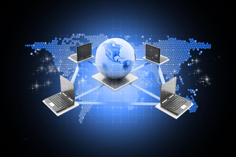 globalt nätverk för datorbegrepp vektor illustrationer