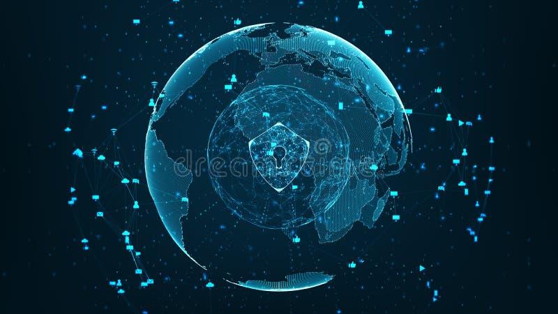 Globalt nätverk för säkerhet royaltyfri foto