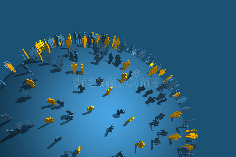 globalt tänk stock illustrationer