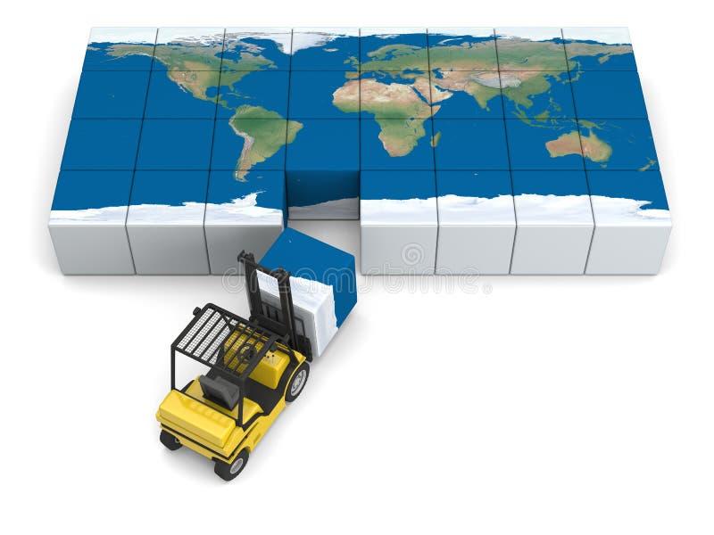 Globalt trans. stock illustrationer