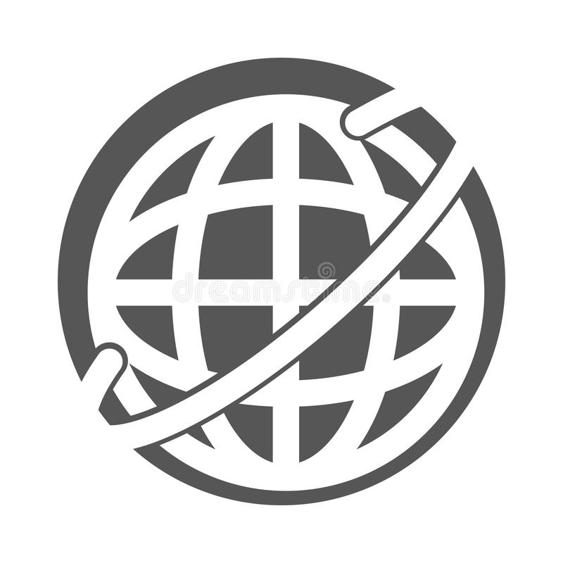 Globalt uppdatera för internet royaltyfri illustrationer