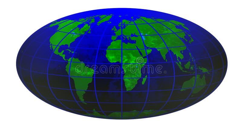 Globe 1 du monde de piste illustration stock