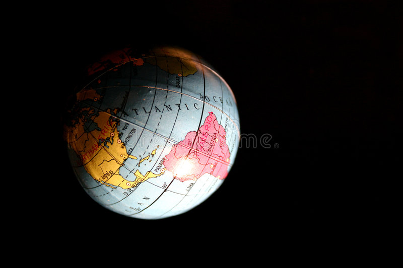 Download Globe stock image. Image of water, office, earth, dark - 112927