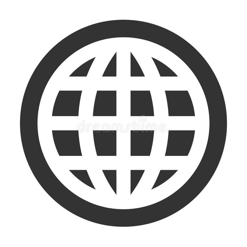 Globe thick line icon royalty free illustration