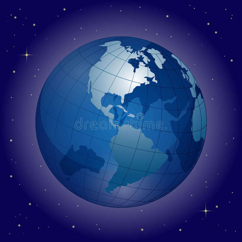 Download Globe stock vector. Image of card, communication, america - 15394956